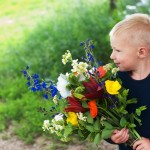 Noah smells bouquet - web